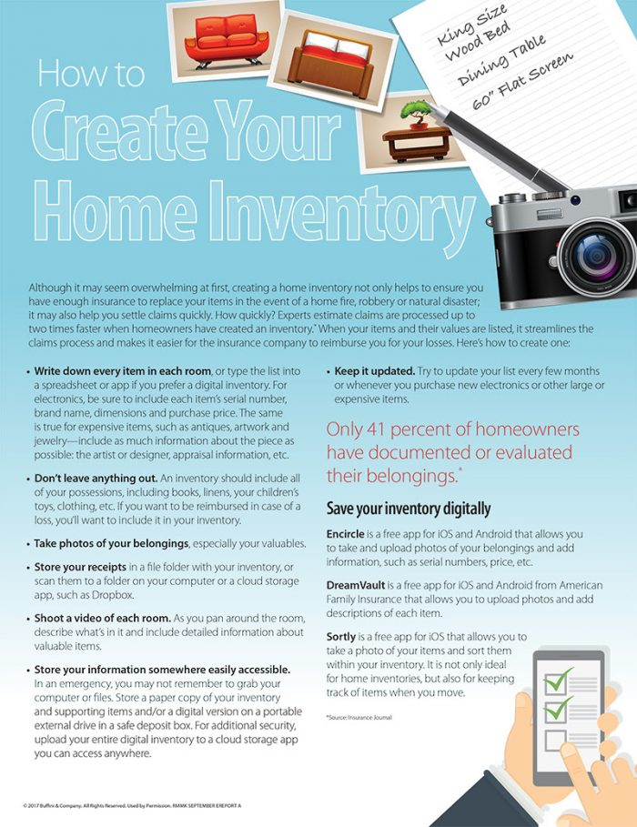 Creating A Home Inventory - The Laue Team - Portland Real